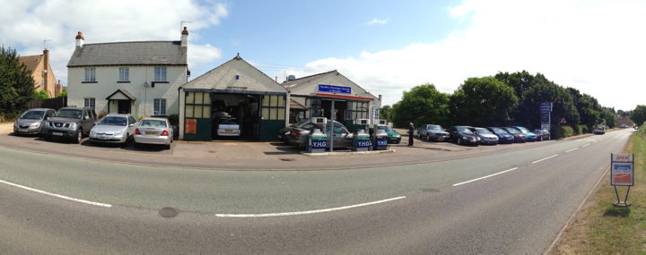 Yardley Hastings Garage, on the A428 between Bedford & Northampton